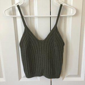 Kendall & Kylie Knit Crop Tank Top